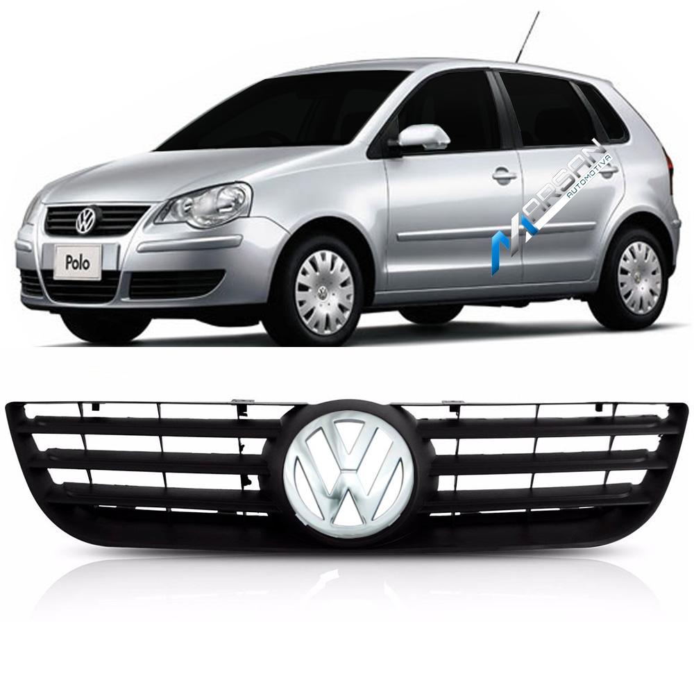 Grade Preta Polo 2007 2008 2009 2010 2011 2012 + Emblema VW