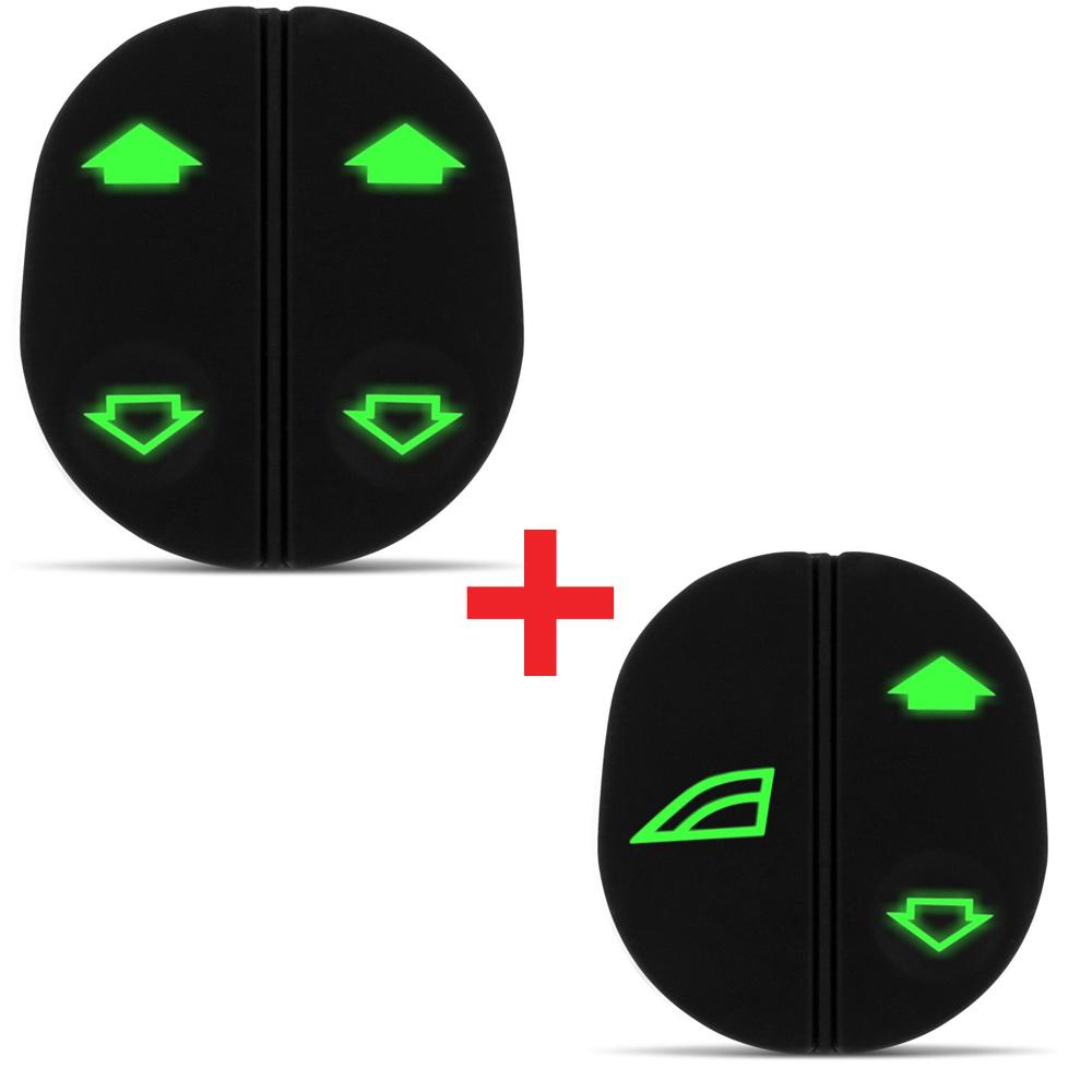 Kit Interruptor Vidro Eletrico Ka Fiesta 97 até 07 Courier