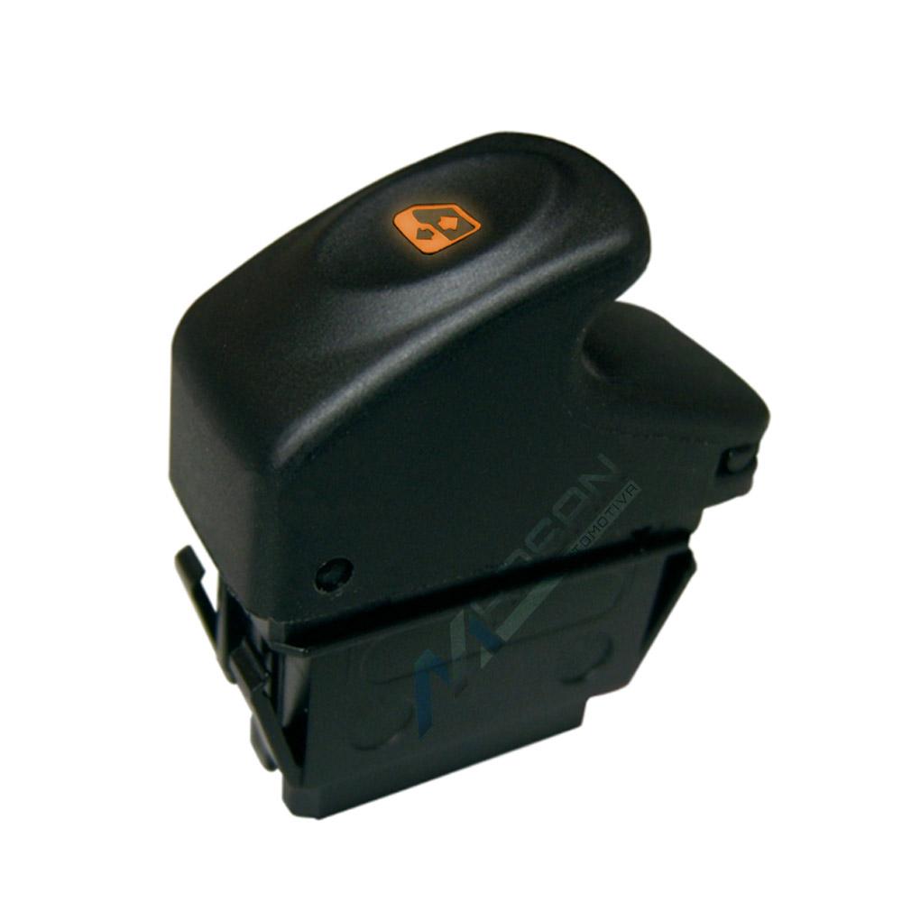 Interruptor Simples Ambar Vidro Eletrico Renault Clio Scenic
