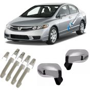 Kit Aplique Cromado Maçaneta - Retrovisor New Civic 2007 a 2011