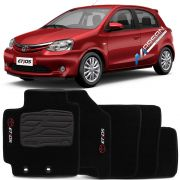 Tapete Carpete Preto Toyota Etios Hatch - Sedan 2016 2017 2018