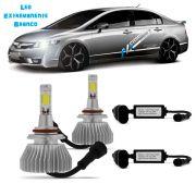 Kit Lampada Led 6000k Para Farol Baixo New Civic Tipo Xenon