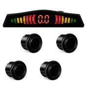 Sensor Estacionamento 4 Pontos Preto Display LED Colorido