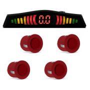 Sensor Estacionamento 4 Pontos Vermelho Display LED Colorido