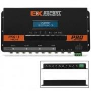 Crossover Expert Eletronics PX-1 4 Canais Processador de Áudio Equalizador Digital