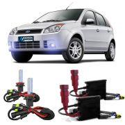 Kit Xenon HB4 8000K Para Farol Milha Fiesta 2003 a 2010