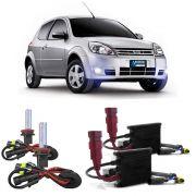Kit Xenon HB4 8000K Para Farol Milha Ford KA 2008 a 2011