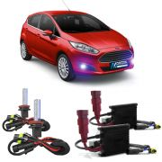 Kit Xenon H11 8000K Para Farol Milha New Fiesta Hatch 2013 a 2015  New Fiesta Sedan 2013 a 2015