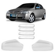 Kit Aplique Cromado Maçaneta e Retrovisor Astra Hatch 1999 a 2012 Astra Sedan 1999 a 2012