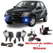 Kit Farol de Milha + Xenon 8000K Celta 2012 a 2015 Prisma 2012