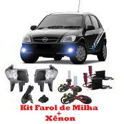 Kit Farol de Milha + Xenon 8000K Celta 2007 a 2011 Prisma 2007 a 2011