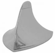 Antena Decorativa Cromada Modelo Shark Tubarão Universal