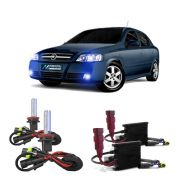 Kit Xenon Lampada 8000K Para Farol Baixo e Milha Astra Sedan 1999 a 2012 Astra Hatch 2003 a 2012