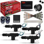 Alarme Automotivo Sistec Sxt 986 + Kit Trava Elétrica 4 Portas