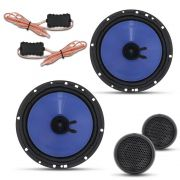 "Alto Falante Hurricane 6.5"" 130W RMS + Tweeter + Crossover Kit 2 Vias"