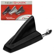 Antena Teto Tubarão New Shark Olimpus Preta Black Piano - Silver Prata - Primer