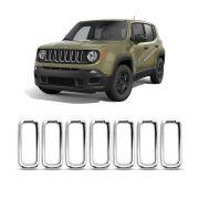 Aplique Cromado Aro Grade Jeep Renegade 2015 a 2018