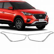 Aplique Moldura Cromado Farol Hyundai Creta 2017 2018 2019