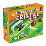 Caixa Futebol de Botão Cristal América 6 Times Gulliver - Brasil, Argentina, Chile, EUA, México e Colômbia