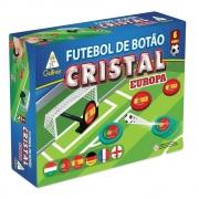 Caixa Futebol de Botão Cristal Europa 6 Times Gulliver - Portugal Itália Espanha Alemanha França Inglaterra