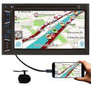 Central Multimidia DVD Com Espelhamento Bluetooth 6,2 Polegadas