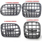Difusor saida de Ar Cinza Painel Blazer S10 2001 até 2011