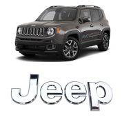 Emblema Capô Letreiro Jeep Renegade 2016 Até 2020 Cromado