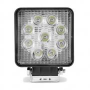 Farol de Milha Auxiliar Quadrado 9 LEDs 10/30V 2400 Lumens 27W  6000K Universal