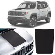 Kit Adesivo Preto Fosco e Emblema Preto Capô Jeep Renegade 2016 Até 2020