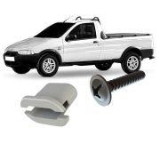 Kit Fixação da Moldura Paralama Dianteiro Strada 1996 a 2002