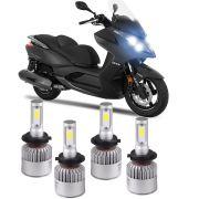 Kit Lampada Super Led Farol Alto Baxo Downtown 300i 6500k