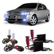 Kit Xenon Lampada 8000K P/ Farol Alto Baixo Milha Astra Sedan - Hatch 1999 a 2012