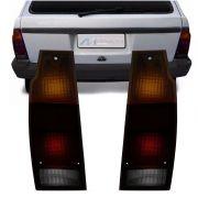 Lanterna Traseira Saveiro 1983 a 1997 Parati 1983 a 1995 Fumê Tricolor