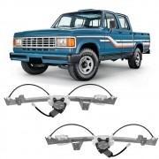 Maquina Vidro Elétrica Dianteira Com Motor Mabuchi A20 Bonanza C20 D20 Veraneio 4 Portas 1991 a 1996