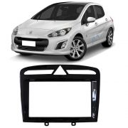 Moldura 2Din Multimidia MP5 Dvd Peugeot 308 408 Preto Black Piano
