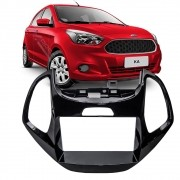Moldura Black Piano 2DIN DVD Multimidia Ford Ka 2015 2016 2017 2018 2019
