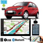Multimidia MP5 C/ Espelhamento IOS Android + Moldura 2Din Ford Fiesta