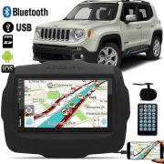 Multimidia MP5 Jeep Renegade C/ Espelhamento IOS Android + Moldura