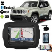 Multimidia MP5 C/ Espelhamento + Moldura 2Din Jeep Renegade Pcd