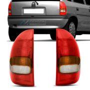 Par Lanterna Traseira Corsa 4 Portas Wagon - Pickup 1995 a 2003
