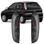 Par Lanterna Traseira Fume Corsa Hatch Joy Maxx Premium SS 2002 até 2012