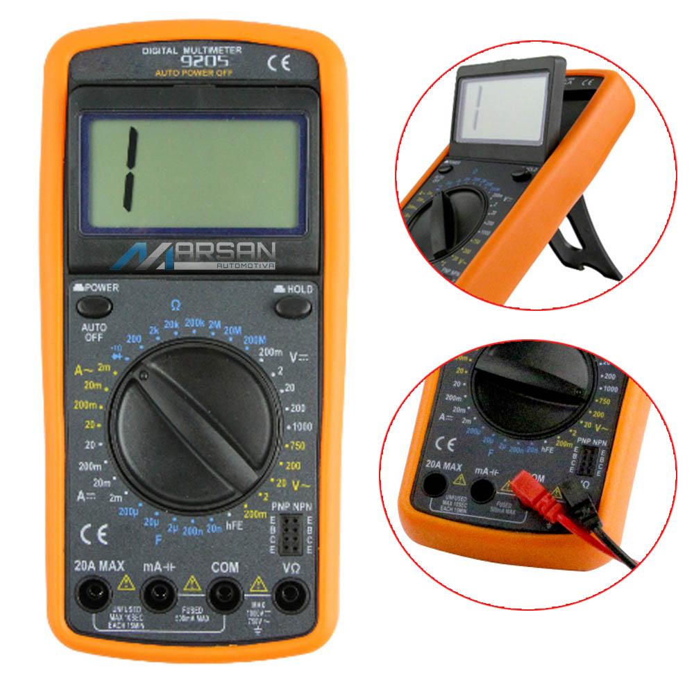 Multimetro Digital 9205 Com Capacimetro - Profissional