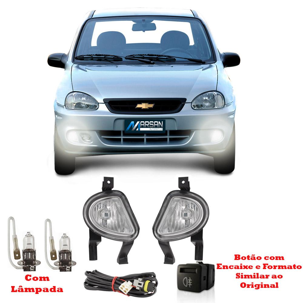 Kit Farol de Milha Corsa Classic 2003 a 2010 Corsa Hatch 2000 a 2002 Pick-Up Corsa 2000 a 2002 Corsa Wagon 2000 a 2002