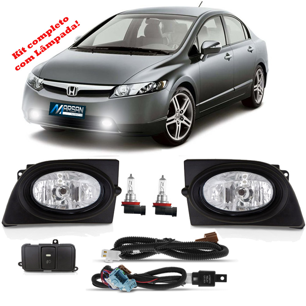 Kit Farol de Milha New Civic 2006 2007 2008