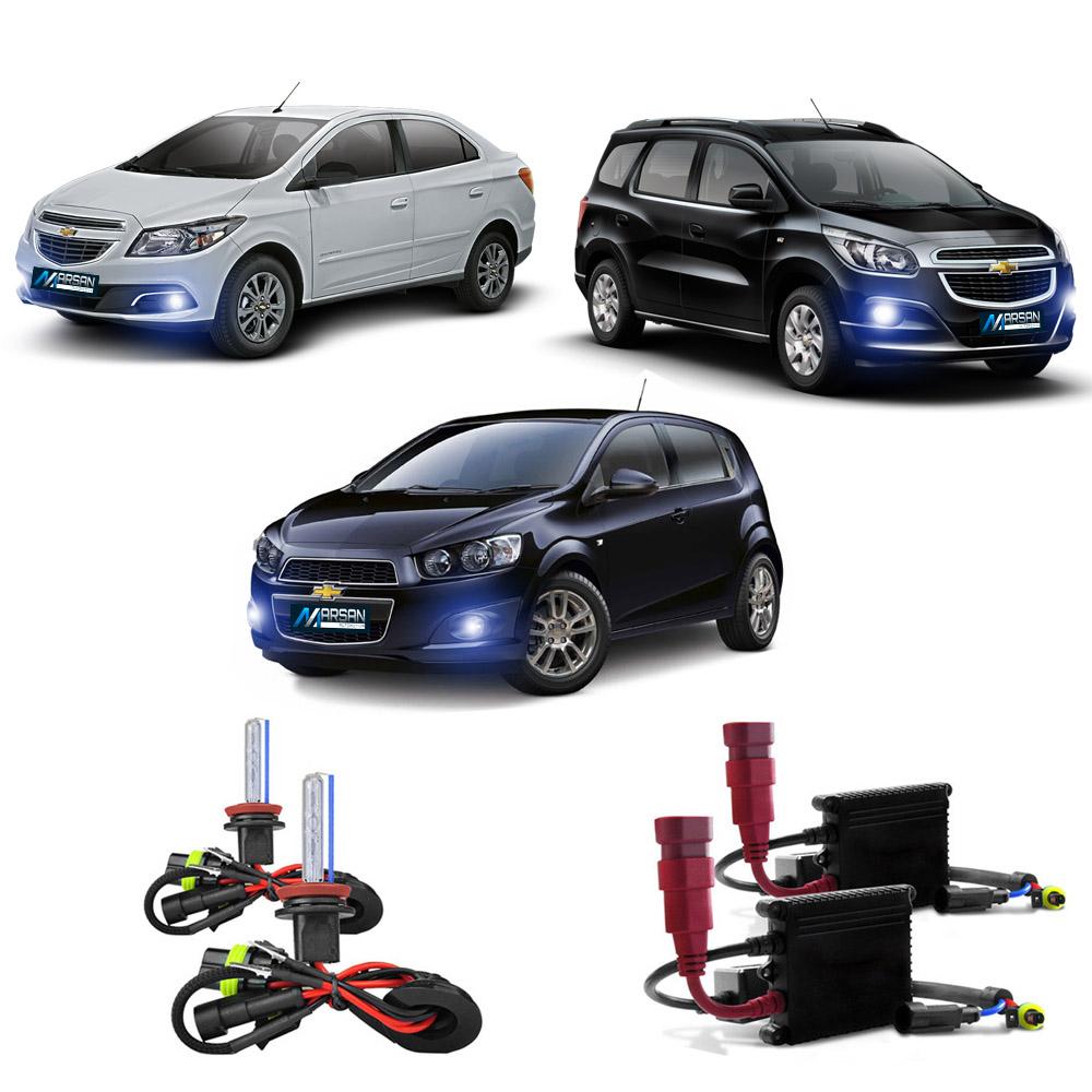 Kit Xenon H27 8000K Para Farol Milha  Onix - Prisma - Spin 2013 a 2015 Cobalt - Sonic 2012 a 2015