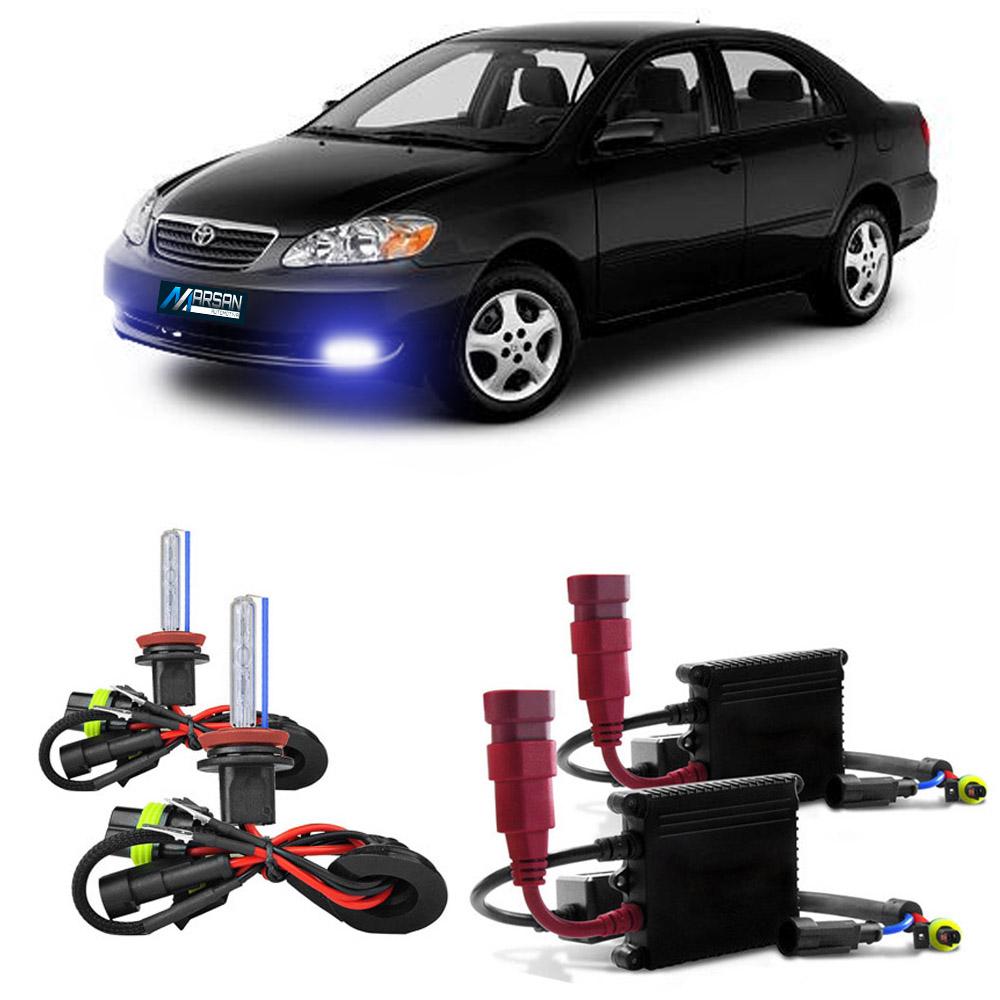 Kit Xenon H3 8000K Para Farol Milha Corolla 2005 a 2008 Fielder 2008 a 2009