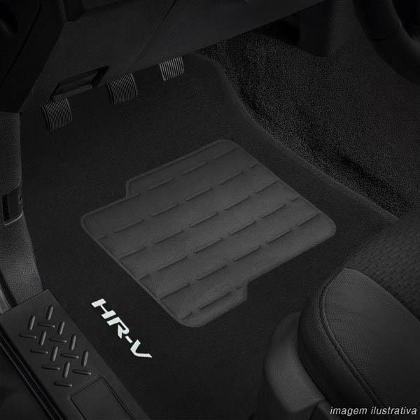 Tapete Carpete Preto (Bordado Logo e Modelo) HR-V 2015