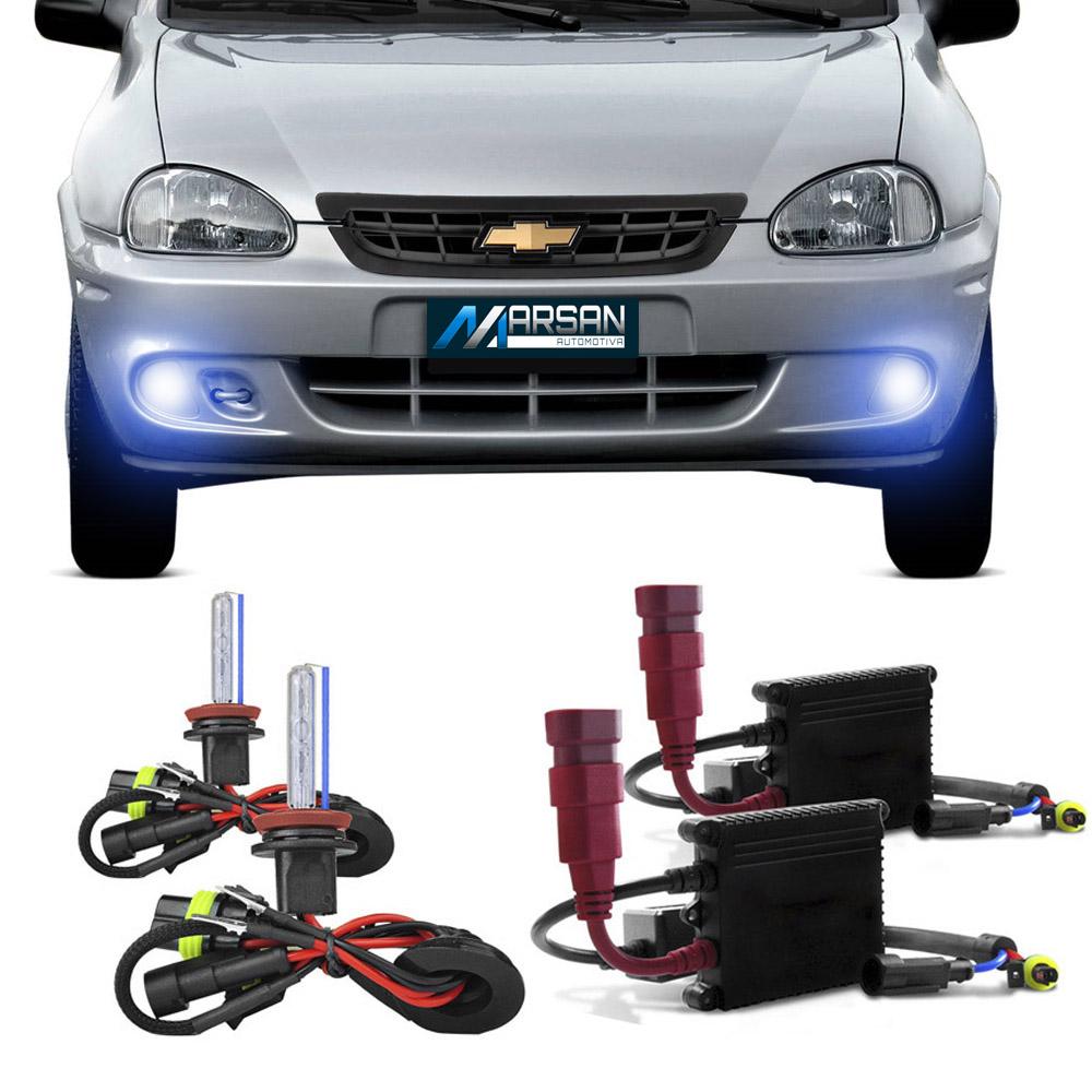 Kit Xenon H3 8000K Para Farol Milha Corsa 2000 a 2002 Corsa Wagon 2000 a 2002 Pick-up Corsa 2000 a 2003 Corsa Sedan 2000 a 2002 Corsa Classic 2003 a 2010