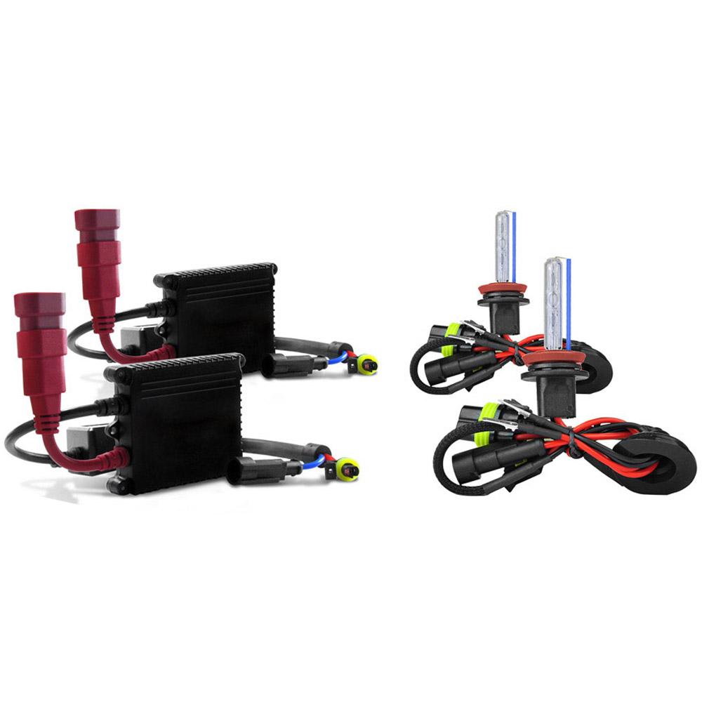 Kit Xenon Lampada 8000K Para Farol Baixo e Farol Milha Palio 2008 a 2009 Siena 2010 a 2011