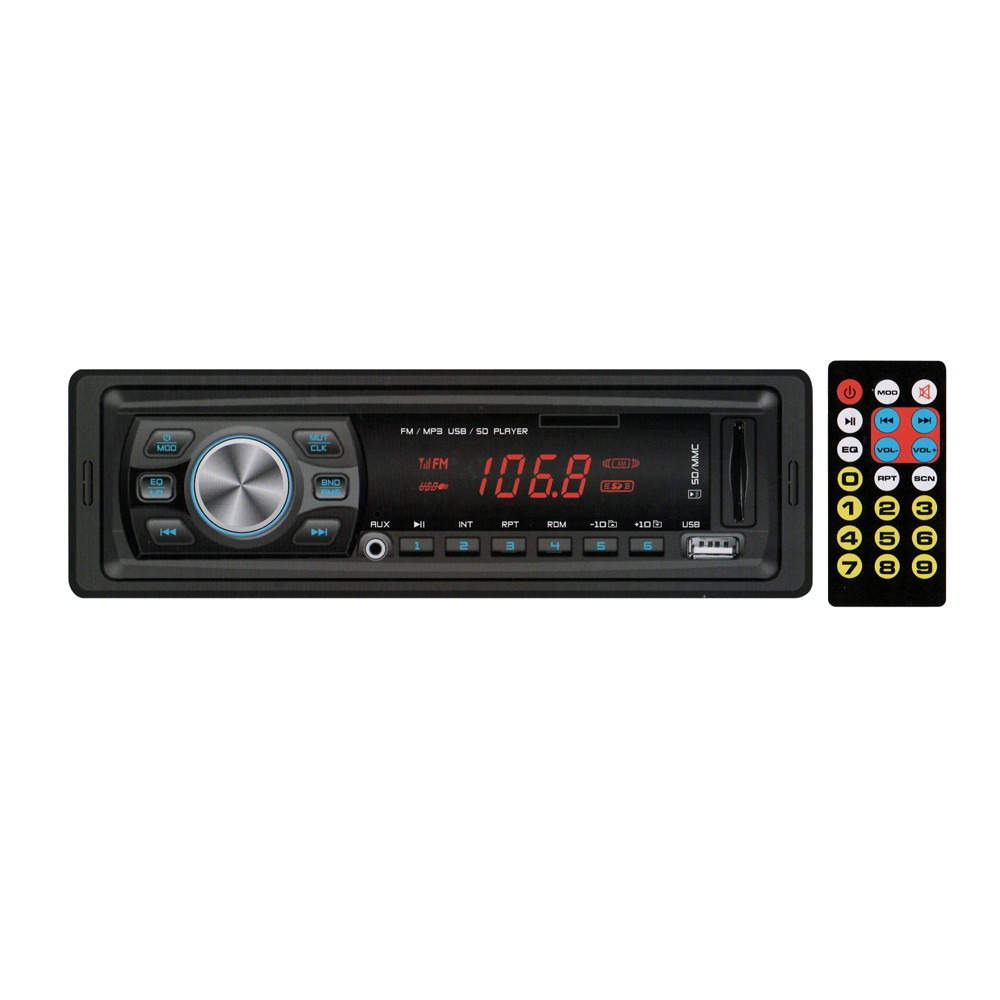 Radio FM MP3 Player Automotivo com Controle Remoto entrada USB / SD / AUX IN